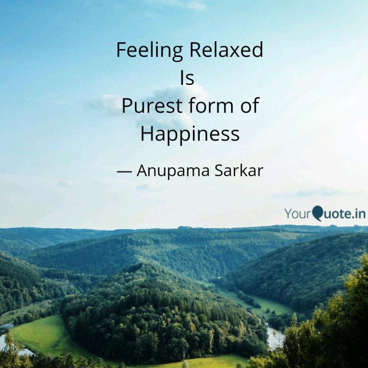 feeling relaxed